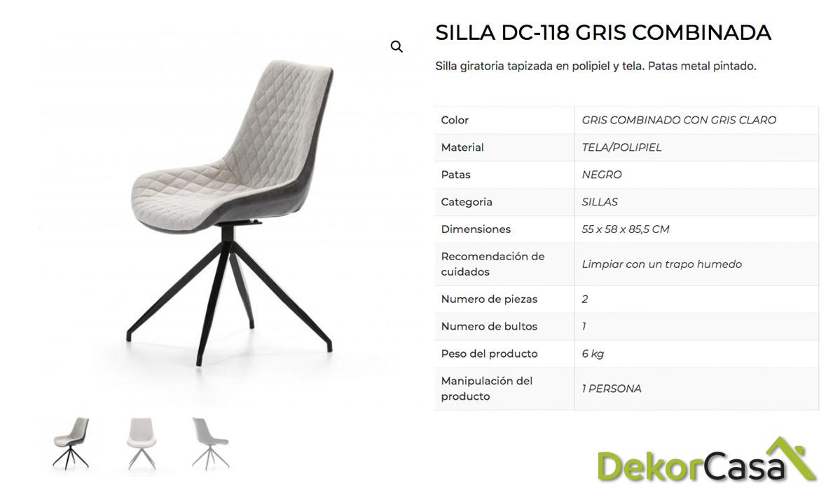 silla dc 118 combinado gris dh 3