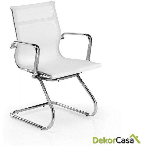 silla de oficina confidente malla blanca berlin 56 x 64 x 90 cm