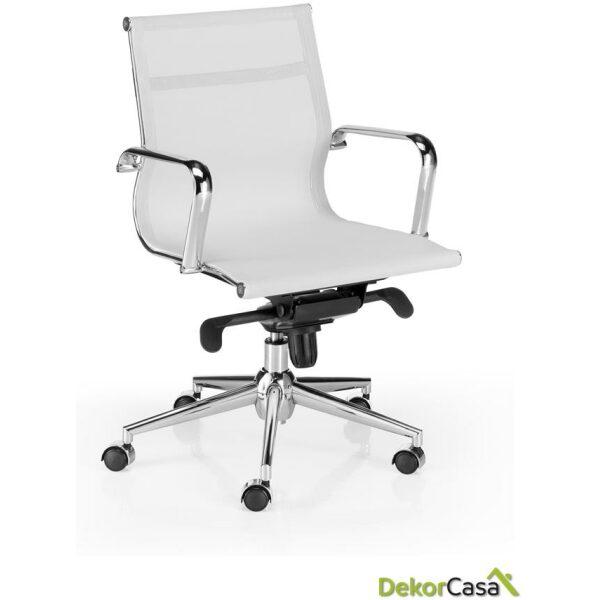silla oficina malla respaldo bajo blanco berlin 1