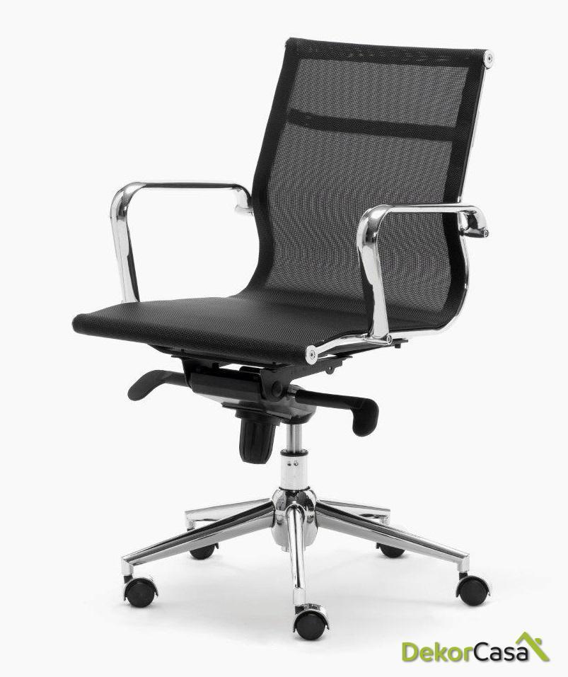 silla oficina malla respaldo bajo negro berlin 1