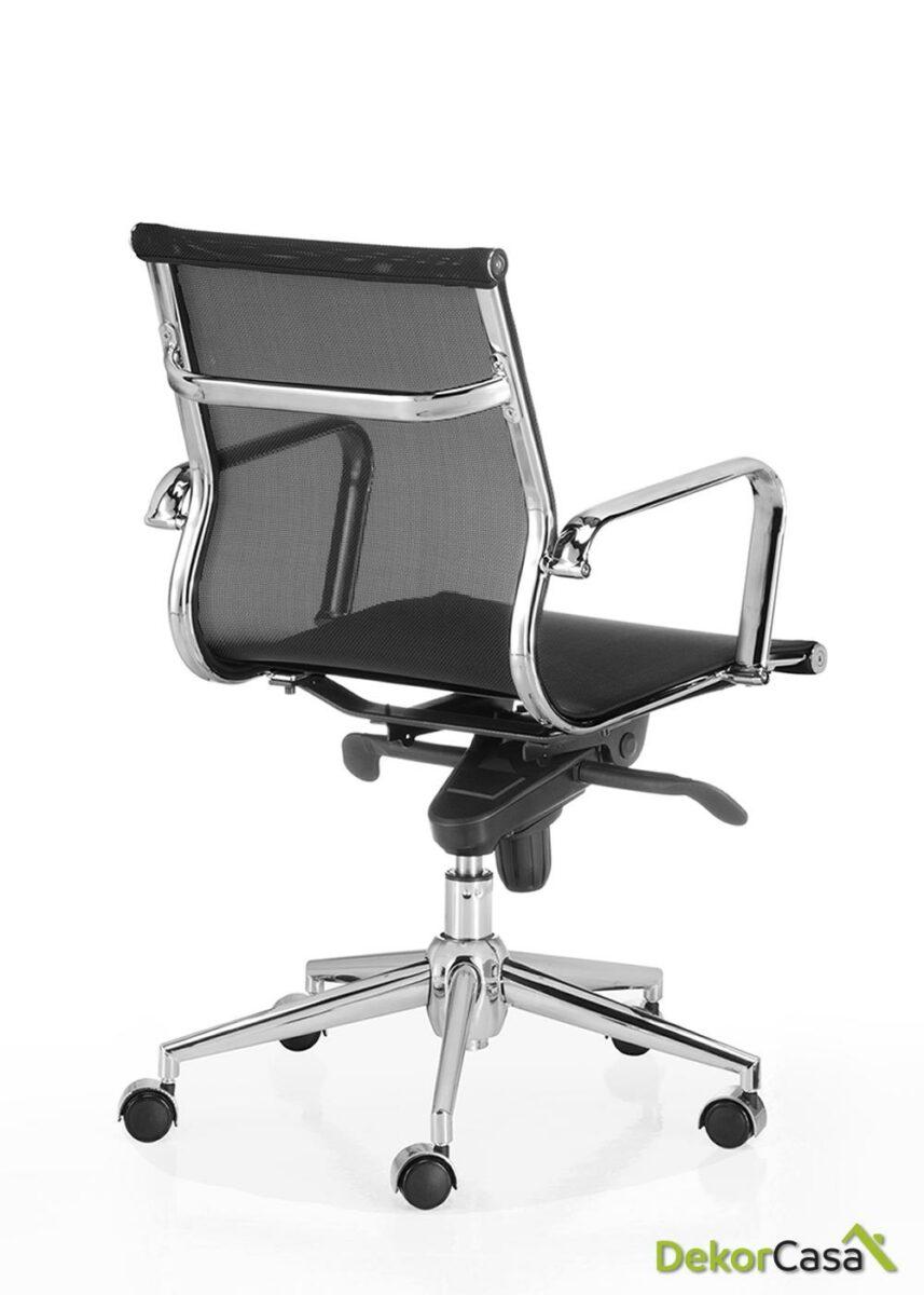 silla oficina malla respaldo bajo negro berlin 3