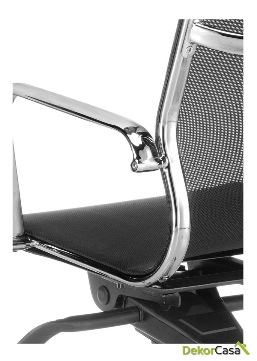 silla oficina malla respaldo bajo negro berlin 5
