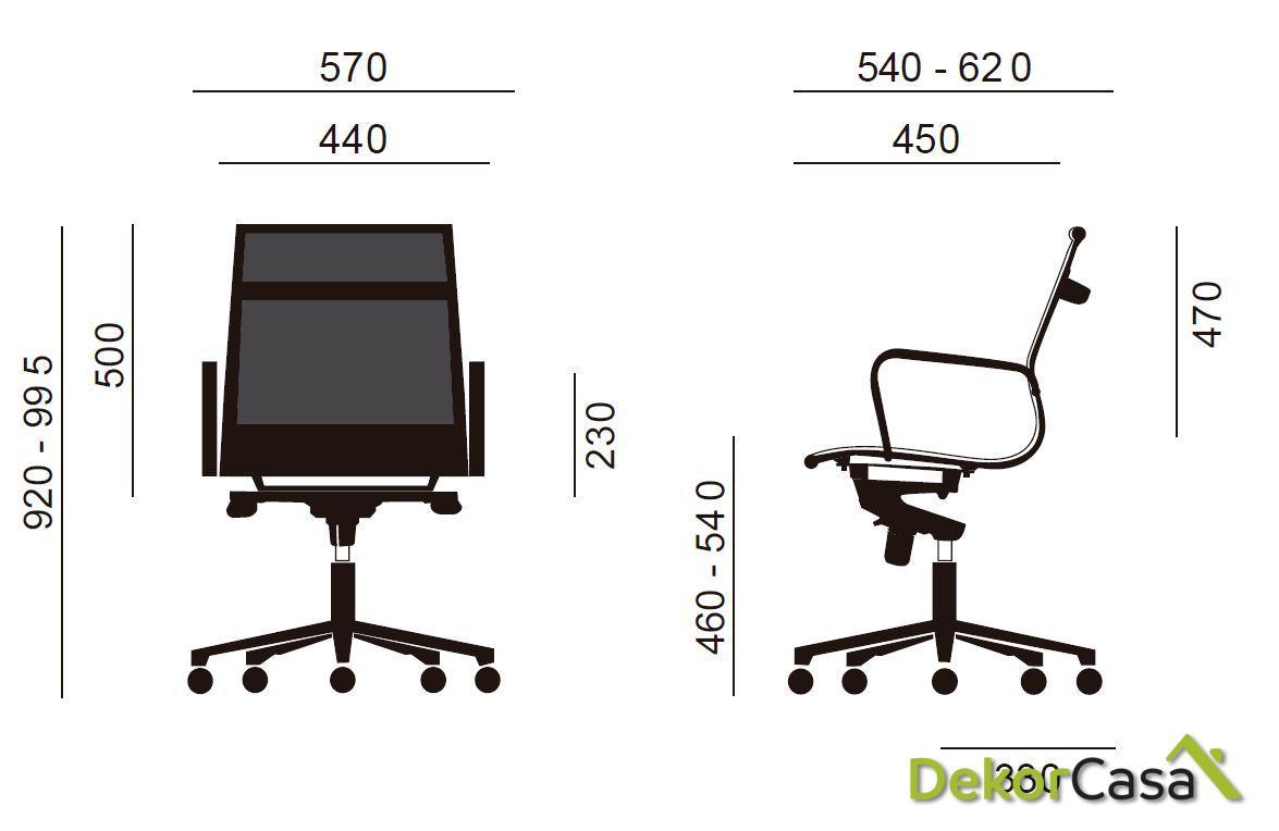 silla oficina malla respaldo bajo negro berlin 6