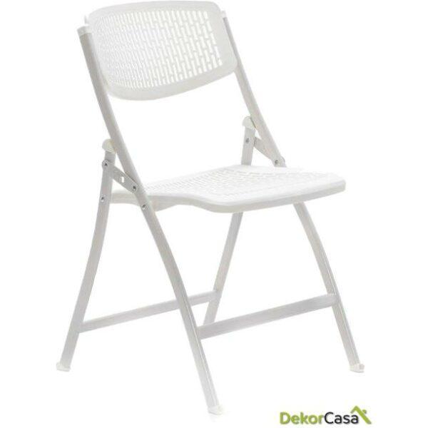 silla plegable oficina blanca seul 1