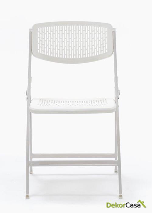 silla plegable oficina blanca seul 2