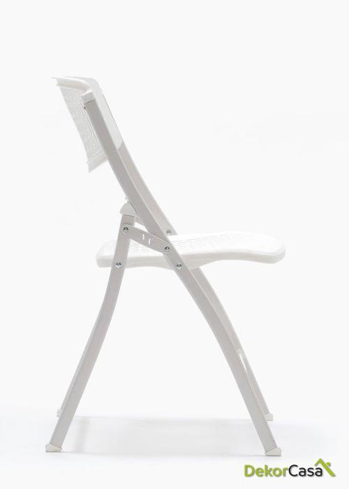 silla plegable oficina blanca seul 3