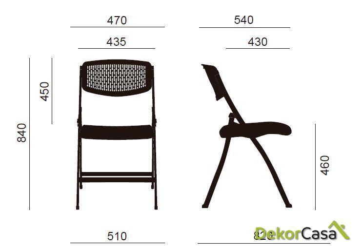 silla plegable oficina blanca seul