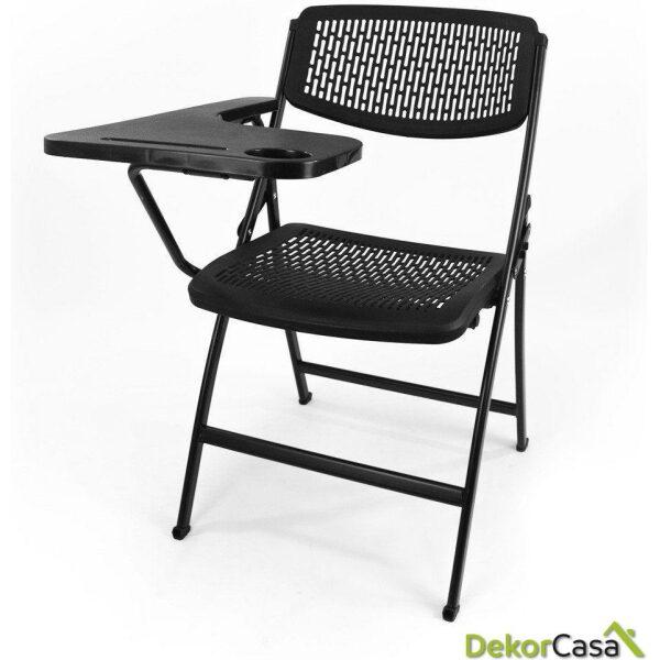 silla plegable oficina negra con pala seul 1