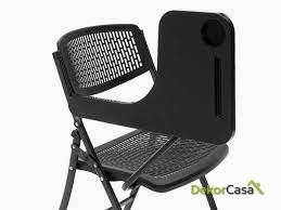 silla plegable oficina negra con pala seul