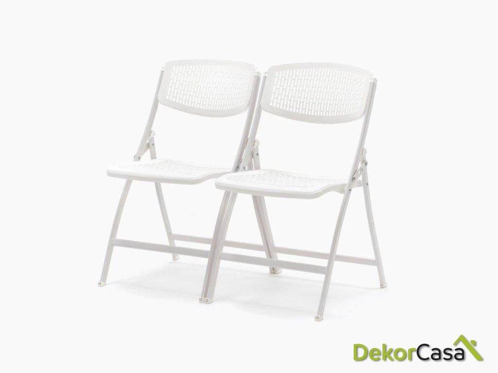 silla plegable oficina negra seul 1