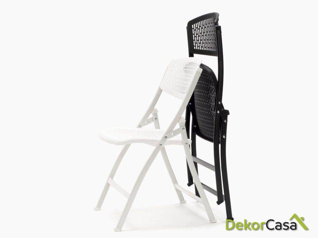 silla plegable oficina negra seul 3