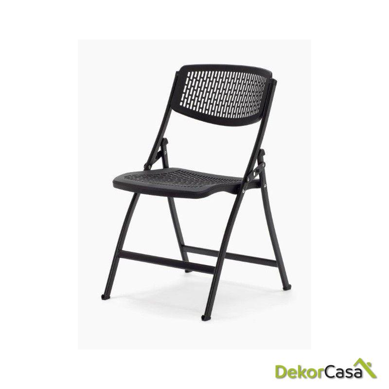 silla plegable oficina negra seul 4