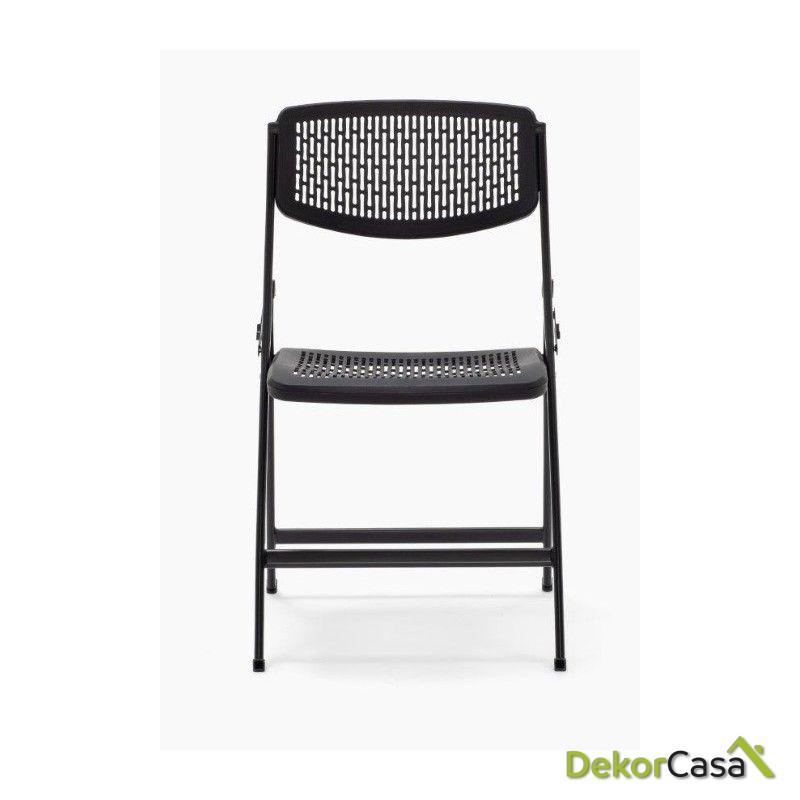 silla plegable oficina negra seul 5