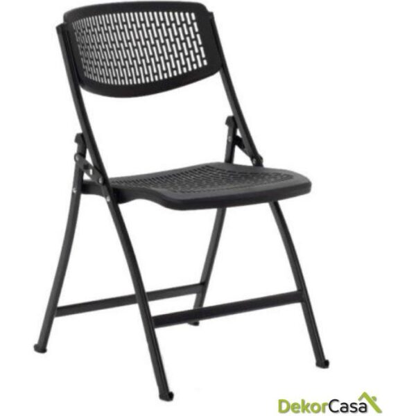 silla plegable oficina negra seul 7