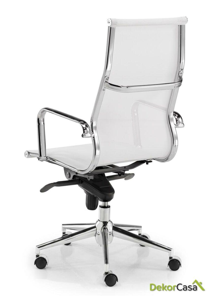silla tapizada malla respaldo alto blanco 1