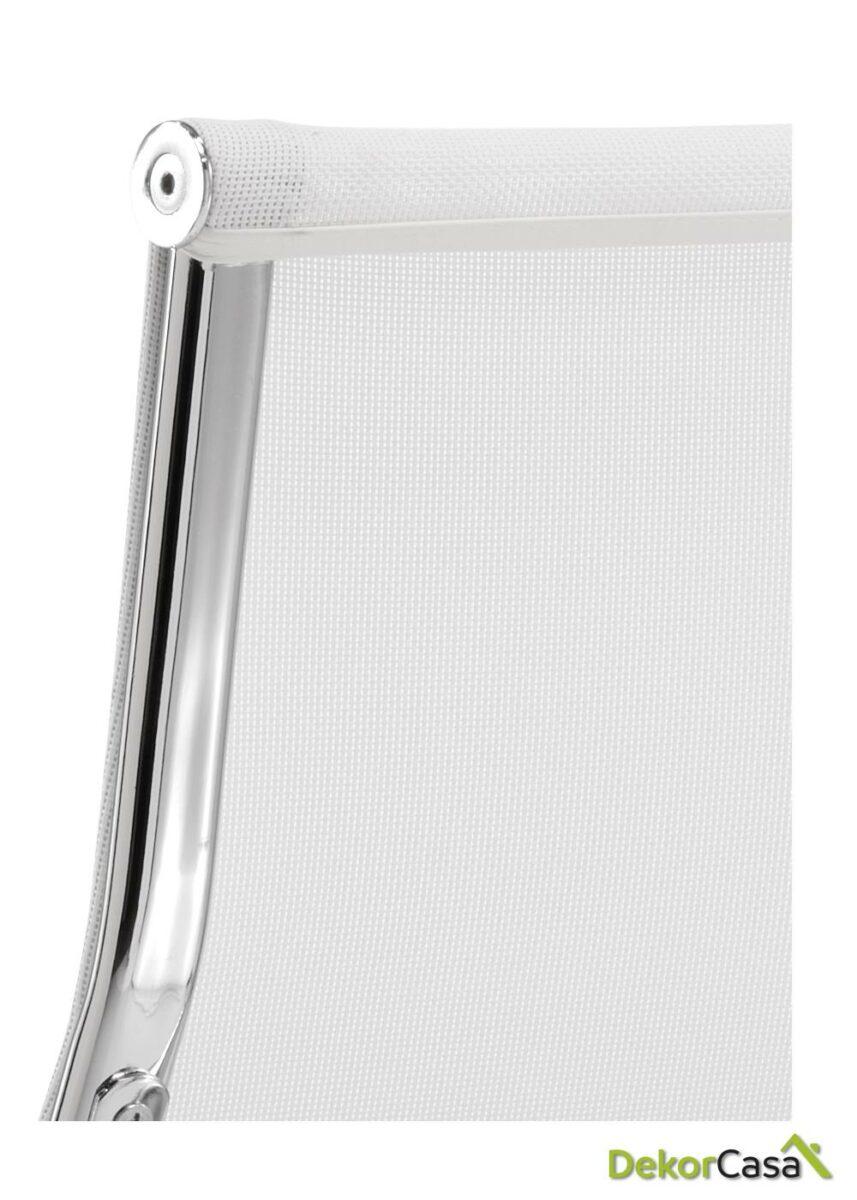 silla tapizada malla respaldo alto blanco 2