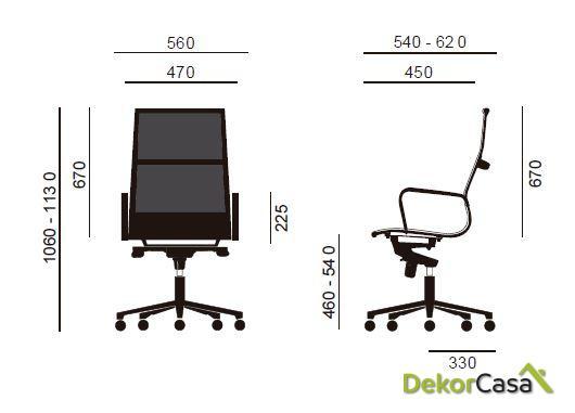 silla tapizada malla respaldo alto blanco 4