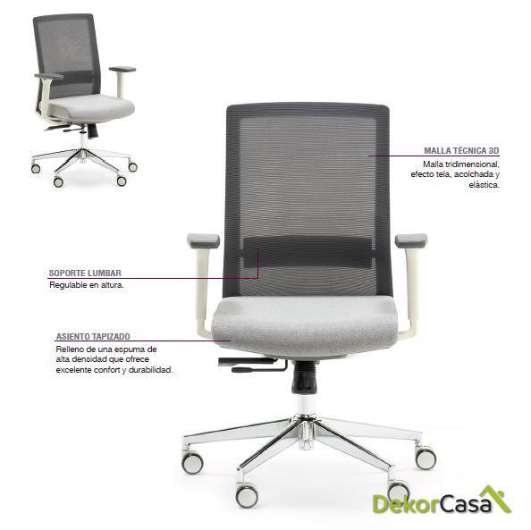 silla oficina gris niza 1