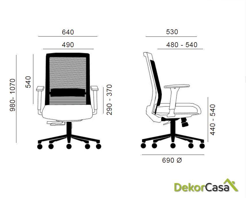 silla oficina gris niza 2