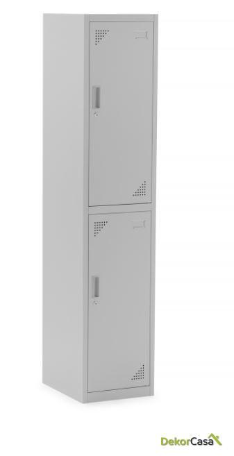 taquilla metalica partida con llave 2 puertas yakarta 1