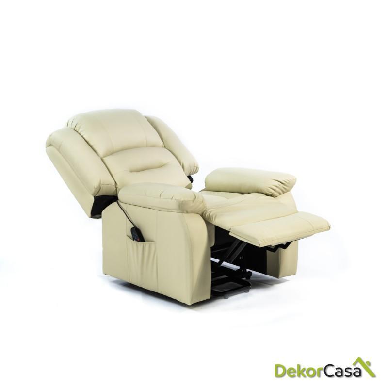 ecode sillon de masaje 10 vibromotores ondulantes con programas automaticos maxium usb eco 819up beige 2