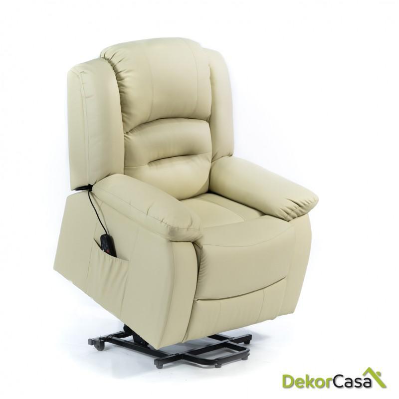 ecode sillon de masaje 10 vibromotores ondulantes con programas automaticos maxium usb eco 819up beige