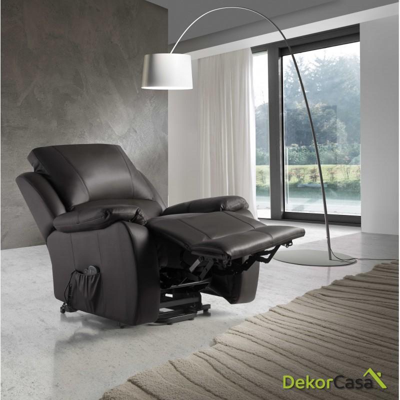 ecode sillon relax piel vacuno con sistema elevador masaje programable y calor lumbareco 8620up 5