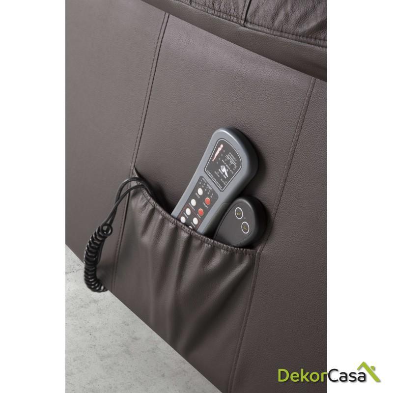 ecode sillon relax piel vacuno con sistema elevador masaje programable y calor lumbareco 8620up 6