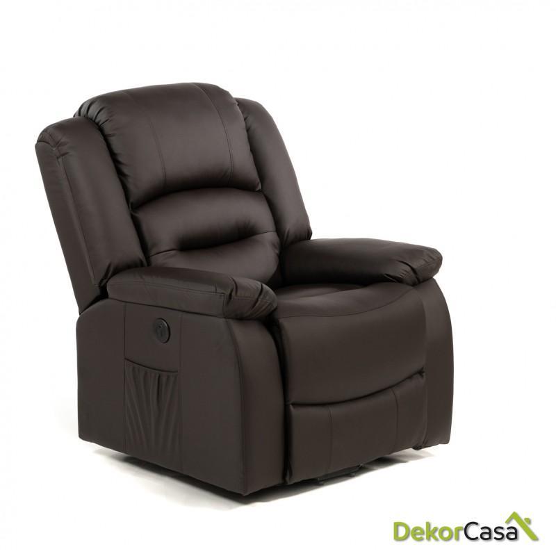 sillon de masaje levantapersonas marron eco 8198up 2