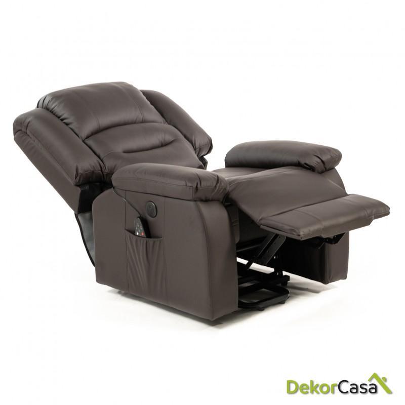 sillon de masaje levantapersonas marron eco 8198up 3