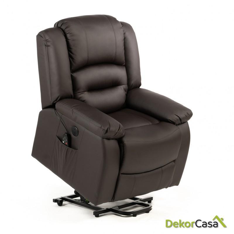 sillon de masaje levantapersonas marron eco 8198up